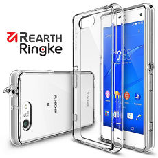 【Rearth Ringke】Sony Xperia Z3 Compact (Z3C) [Fusion] 透明背蓋防撞手機殼透黑