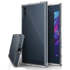 【Rearth Ringke】Sony Xperia XZ / XZs [Fusion] 透明背蓋防撞手機殼透黑