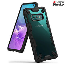 【Rearth Ringke】三星 Samsung Galaxy S10e (5.8吋) [Fusion X] 透明背蓋防撞手機殼 (黑)