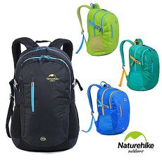 Naturehike 30L亮彩輕量耐磨機能登山後背包 四色柳綠