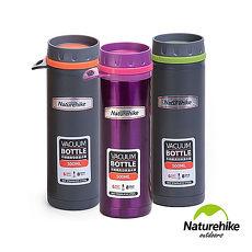 Naturehike 情侶款 旅行登山便攜運動304不鏽鋼真空保溫瓶 悶燒罐0.5L 三色灰橙