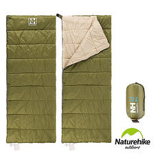Naturehike H150春夏款輕薄透氣便攜式信封睡袋 軍綠