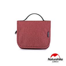 Naturehike 吊掛式萬用旅行收納防水分裝盥洗包 紅色