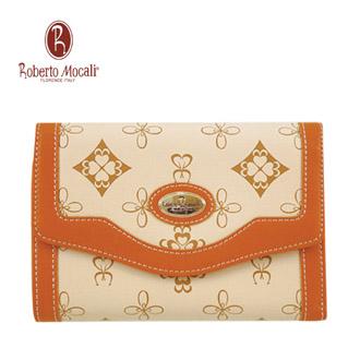 義大利《Roberto Mocali》典雅16卡中夾(駝)(RM-1226201-1)