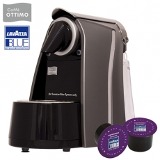 《OTTIMO》膠囊咖啡機-尊貴灰+100顆Lavazza咖啡膠囊(紫色)