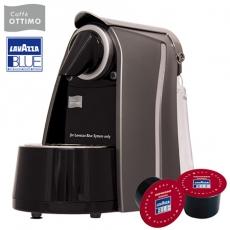 《OTTIMO》膠囊咖啡機-尊貴灰+100顆Lavazza咖啡膠囊(紅色)