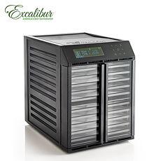 【Excalibur】伊卡莉柏十層觸控雙區/雙壓對玻低溫乾果機/黑/塑膠 RES10