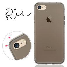 RedMoon APPLE iPhone7/iPhone8 4.7吋 防摔氣墊透明TPU手機軟殼-黑