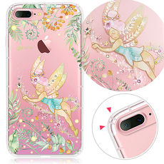 YOURS APPLE iPhone 7 Plus/i8 Plus 5.5吋 奧地利彩鑽防摔氣墊手機殼-綠仙子
