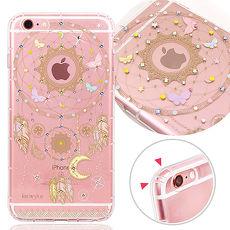 KnowStar APPLE iPhone 6/6s 4.7吋 奧地利水晶彩繪防摔氣墊手機鑽殼-捕夢網