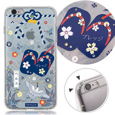 KnowStar APPLE iPhone 6s Plus 5.5吋 奧地利水晶彩繪防摔氣墊許願鑽殼-平安御守