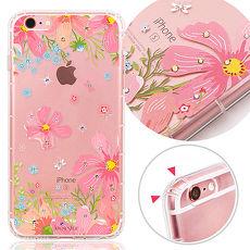 KnowStar APPLE iPhone 6/6s 4.7吋 奧地利水晶彩繪防摔氣墊手機鑽殼-花羨
