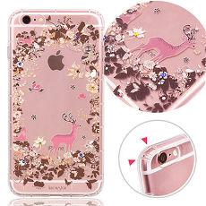 KnowStar APPLE iPhone 6s Plus 5.5吋 奧地利水晶彩繪防摔氣墊手機鑽殼-魔幻森林