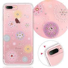 KnowStar APPLE iPhone 7 Plus/i8 Plus 5.5吋 奧地利彩鑽防摔手機殼-雪球花
