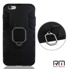 RedMoon APPLE iPhone6 Plus/i6s Plus 5.5吋 黑豹耐衝擊雙料立架指環殼