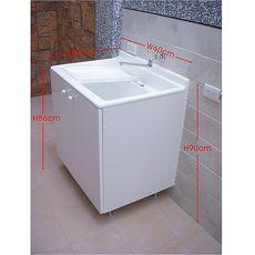 人造石洗衣槽60cm附贈活動式人造石洗衣板+不鏽綱落地腳