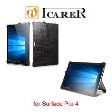 ICARER 鱷魚紋系列 Surface Pro 4 單底背蓋 手工真皮保護套