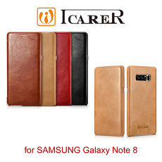 ICARER 復古曲風 SAMSUNG Galaxy Note 8 手工真皮皮套