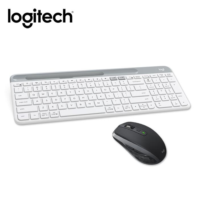 羅技 K580藍牙鍵盤(白)+MX Anyw here2S無線滑鼠(黑)