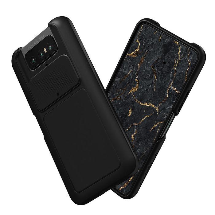 犀牛盾 ASUS ZenFone 7 / 7 Pro Solidsuit 經典防摔背蓋手機保護殼 - 黑色