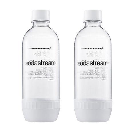 Sodastream專用水瓶1L 2入(白)