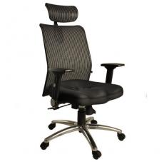 【凱堡】鐵娘子挺腰護脊高背頭枕透氣網布電腦椅/辦公椅【A42024】
