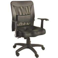 【凱堡】美的人造皮革護腰挺脊網背辦公椅/電腦椅【A24025】