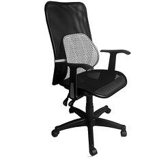 【凱堡】Aniki全網高背T字型扶手辦公椅/電腦椅(送網腰腰靠)【A14084】