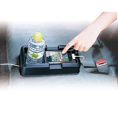 汽車專用後座座椅中央固定收納置物架