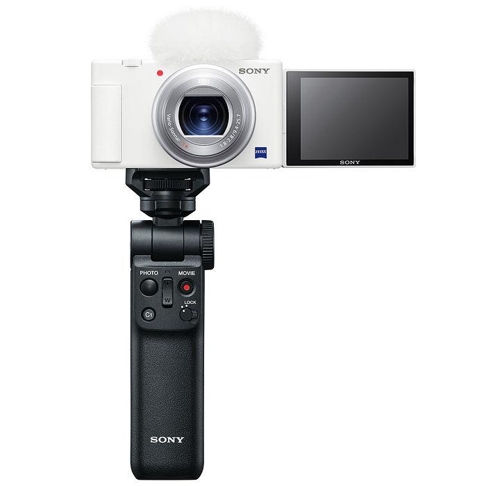 【預購】SONY 索尼 Digital Camera ZV-1 輕影音手持握把組合-晨曦白 公司貨