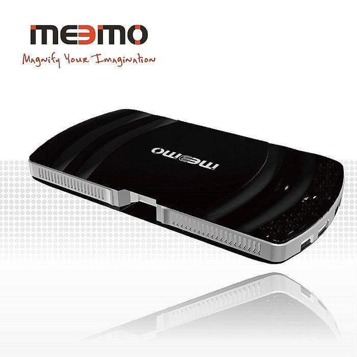 【限時下殺】Meemo雷射微型藍牙投影機-(3色) 內附支架 擦拭布,再贈Meemo萬用支架組耀岩黑