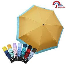 Kasan 畢卡索雙色降溫防風自動晴雨傘 哈密橘