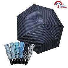 Kasan 三折防風自動開收晴雨傘 深藍條紋