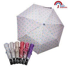 Kasan 三折防風自動開收晴雨傘 粉色波點