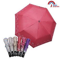 Kasan 三折防風自動開收晴雨傘 紅點萌貓