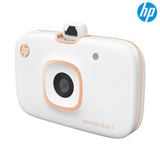 HP Sprocket 2in1 口袋相印機(冰晶白/豔夏紅)冰晶白