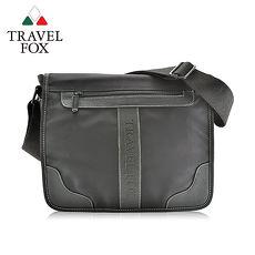 【TRAVEL FOX 旅狐】雲端休閒商務斜背包 TB578-01 黑色