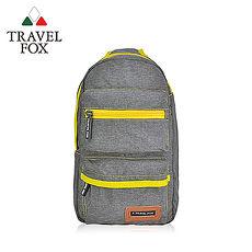 【TRAVEL FOX 旅狐】休閒單肩車縫斜肩包 TB676-98 灰色