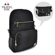 【TRAVEL FOX 旅狐】摺疊式可變造型二用包 TB703-01 黑色