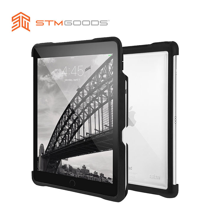 【STM】Dux Shell 系列 iPad Pro 10.5吋專用 軍規防摔保護殼 (黑)