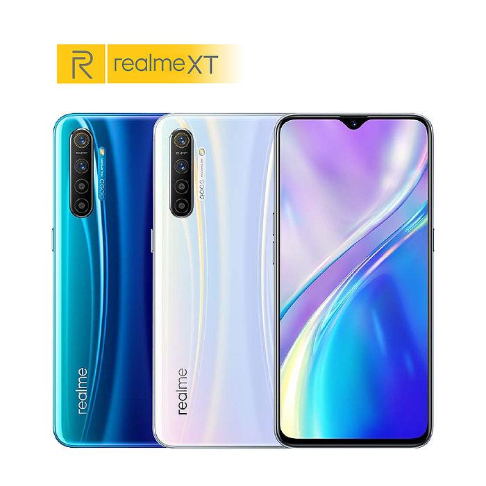 realme XT 8G/128G 6.4吋智慧機【拆封新品】(外觀全新.原廠保固贈玻璃貼+保護殼)藍色