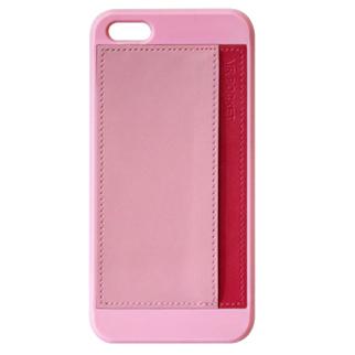 FOXJAIL Apple iPhone5/5S 皮革收納硬式保護殼 粉紅