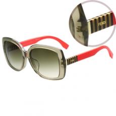 FENDI 時尚太陽眼鏡(透明茶色)