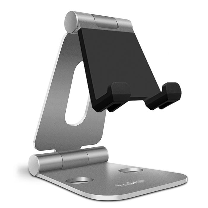 innowatt THE YOGA 優架M 可雙軸折疊鋁合金強化型手機平板支架炫光銀
