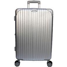 【YC Eason】麗致20吋PC髮絲紋可加大海關鎖行李箱 銀