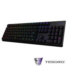 TESORO鐵修羅 剋龍劍Gram RGB機械式鍵盤-紅軸中文黑