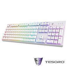 TESORO鐵修羅 剋龍劍Gram RGB機械式鍵盤-青軸中文白