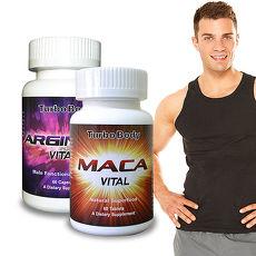【Turbo Body】男子漢威風雙效組-精益猛 強效瑪卡錠+精胺酸(2瓶組)