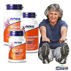 NOW健而婷 關鍵有力套組(UCII二型膠原蛋白+葡萄糖胺+鯊魚軟骨)