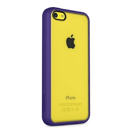 Belkin iPhone 5C 透明 PC 保護殼紫色
